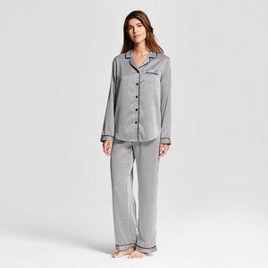Pinstripe satin pajamas